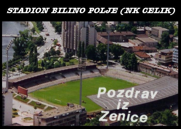 """Stadion """"BILINO POLJE"""" je sagradjen 1972 godine i ima kapacitet do 18,000 navijaca, od kojeg posjeduje samo za 7,500 sjedecih mjesta...."""